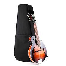 Hand Carved Solid Spruce Top F Style Mandolin, Free Gig Bag, Sunburst, Brand New