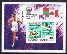 Madagaskar Bl. 16B, Olympiade 76, Block mit Winner-Aufdruck geschnitten ** RR!!