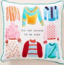 New Anthropologie Mr. Boddington's Studio Tis The Season Ugly Sweater Pillow