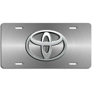 Toyota  auto art vehicle aluminum license plate car truck SUV grey tag