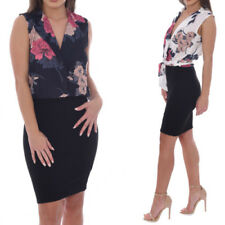 Machine Washable Floral Regular Dresses Bodycon Dress