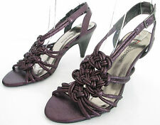 NEW M&S LIMITED COLL SIZE 6.5 40 WOMENS SHINY PURPLE STRAPPY ANKLE STRAPS SHOES