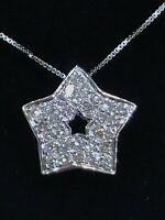 Chaîne en or 18 carats maille vénitienne et pendentif étoile en diamants