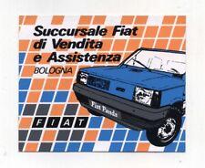 Adesivo FIAT PANDA Succursale di vendita BOLOGNA Anni 80 STICKER FCA