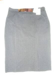 NEW Carmen Marc Valvo black pencil skirt with silver belt detail US8 RRP £69