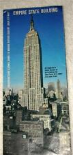 Vintage New York Empire State Building Guide & Map - French, Pre-World Trade Ctr