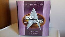 Skybox 1996 Star Trek TNG Season 4 binder and Card set in Pages