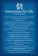 Dalai Lama Instructions For Life Blue Motivational Poster Art Print - 13x19