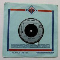 "DONNA SUMMER Winter Melody / Wasted 1976 UK 7"" VINYL SINGLE GTO POP DISCO"