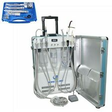 Dental Portable Unit with Air Compressor + Curing Light + Scaler + Handpieces 2H