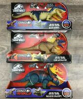 3 Jurassic World Park Dino Rivals Allosaurus Nasutoceratops Figure Lot NEW