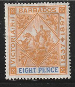 Barbados   1897   Sc # 87(8p)   Wmk.1  MLH   OG      (55289)
