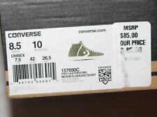 NEW Converse Pro Mid Leather Suede OLIVE GREEN Sz 8.5 Sneakers Shoes $85 Euro 42
