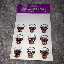 MURPLE 1984 Vintage Rare Scratch N Sniff Stickers Gum Ball Machine RARE