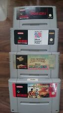 4x Super Nintendo SNES Game Bundle- UK PAL inc Super Mario world/Mario all stars