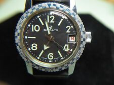 LADIES/BOYS RARE & VINTAGE SINDACO SWISS DIVER WATCH W/DATE A BEAUTY TAKE A LOOK