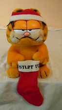 Vintage Santa Garfield 1978 1981 Christmas Holiday, Stuff-M Stocking, Santa Hat