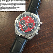 Fits OMEGA Watches - Custom Strap BD End Links Steel - For 2998 Speedmaster 20mm