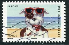 TIMBRE FRANCE AUTOADHESIF OBLITERE N 977 SOURIRES VACANCES ANIMAUX PERSONNIFIES