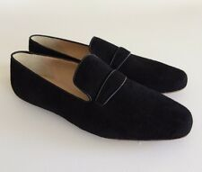 NEW $165 Jcrew Womens 11 Georgie Suede Penny Loafers Black Flat Shoe E0397