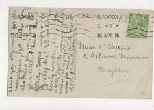 Miss K Perrins Silkwood Mansions Brighton 1915 533a