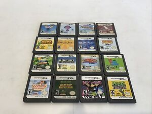 Nintendo DS games LOT Of 14 Pets, Brain Age, Cooking Mama, Plants Vs Zombies Etc