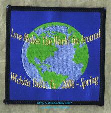 LMH Patch  2006 GOOD SAM CLUB SAMBOREE  Wichita Falls TX LOVE MAKES WORLD AROUND