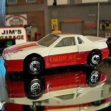 "Loose-1988 Matchbox Automotive Series MB 2 ""Pontiac Fiero GT"" White Red"