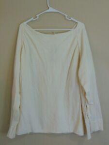 PUREJILL New Square Neck Cotton Cashmere New Cream Sweater Pullover Size 4X
