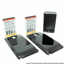 2 x 7000mAh Extended Battery for Samsung Galaxy Note 3 N9000 Black Cover Dock