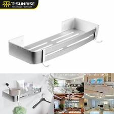 Aluminum Alloy Kitchen Bathroom Shower Shelf Storage Suction Basket Caddy Rack