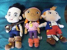 Disney Jake and the Neverland Pirates Plush Soft Toys Jake, Cubby, Izzy vgc