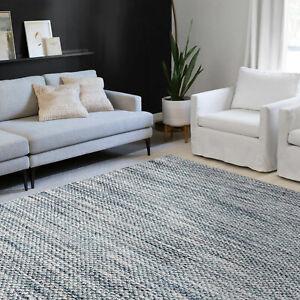 Large Floor Rugs Teal Green Abstract Faux Braied Printed Modern Area Rugs Carpet