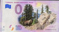 BILLET 0  EURO CANADA BANFF NATIONAL PARK COULEUR  2019 NUMERO DIVERS