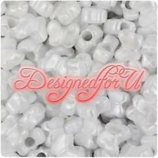 *3 FOR 2* 50 White Pearl Butterfly Shape 13mm Highest Quality Pony Beads