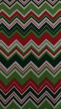 "Christmas Holiday Tablecloth 68"" Round Chevron Design Contemporary Free Ship"