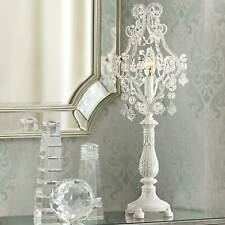 Fay White 19 1/2 High Crystal Candelabra Table Lamp