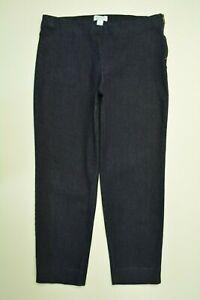 Simply LIZ CLAIBORNE Size 12 Womens CAPRI Elastic Waist DARK Wash STRETCH Jeans