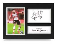 Sam McQueen Signed A4 Photo Display Southampton Autograph Memorabilia + COA