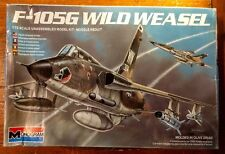 Monogram 1/72 Scale Wild Weasel F-105G Airplane Molded in Olive Drab Model Kit