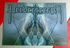 PERVERSERAPH BLUE LIGHTNING WWIII WW3MUSIC. COM MINI POSTER POSTCARD STICKER