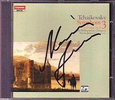 Mariss JANSONS Signed TCHAIKOVSKY Symphony 3 Polish CHANDOS CD Oslo Philharmonic