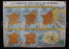Affiche scolaire histoire France terrotoriale AUGUSTE LOUIS XV à nos jours MDI