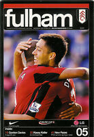 FULHAM v BOLTON WANDERERS 26 Sep 2007 FOOTBALL PROGRAMME CARLING CUP