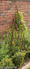 1.2m Expanding Natural Willow Obelisk / Garden Obelisk
