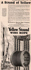 AD LOT OF 5 1930-45 YELLOW STRAND WIRE DERRICK PULLEY WWII TRAMWAY BUCKET