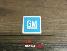 1965 GM Mark Of Excellence Turquoise Door Jamb Embossed Foil Decal / Sticker