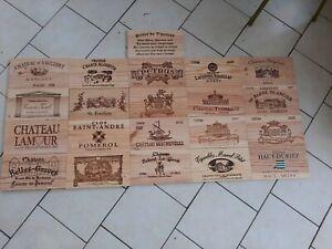 Lot de20 estampes bois façades caisse vin + 1 gratuitede 31 cm x 17 cm