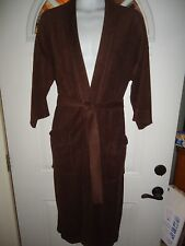 """MENS VINTAGE AFTER HOURS BY DIPLOMAT Brown BATH ROBE One Size 48"""" Long"""