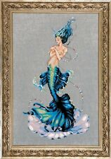 """Aphrodite Mermaid"" Cross Stitch Chart + beads & Kreinik Linen Mirabilia"